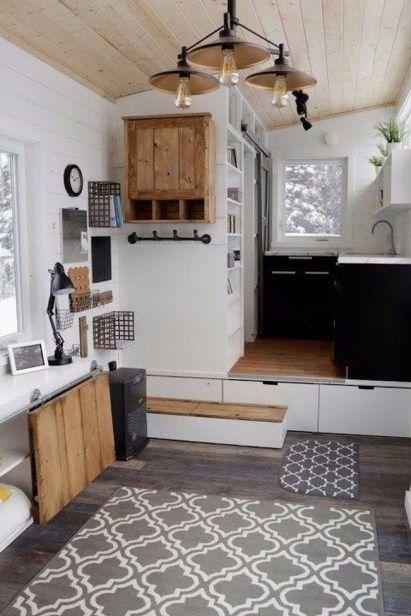 30 Cute Tiny House Ideas Organization Tips Modern Tiny House Tiny House Organization