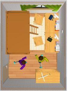 6畳を2人で使った場合のレイアウト例 子供部屋 レイアウト こども 部屋