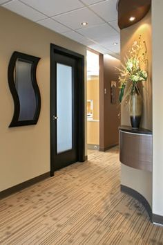 I Like This Frosted Glass Door. Just Not In Black. This For The Consult. Medical  Office DecorHallway ...