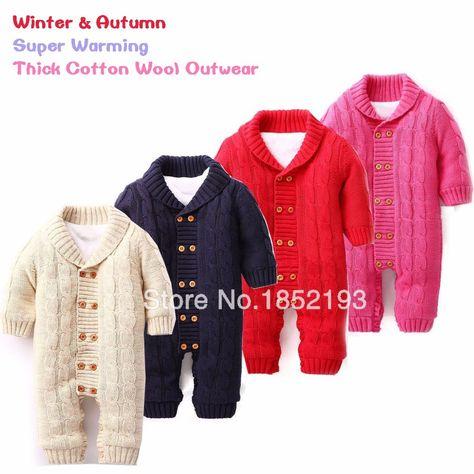 92e67f3a9696 Winter Baby Romper Infants Cotton-padded Out Wear Fleece Christmas ...