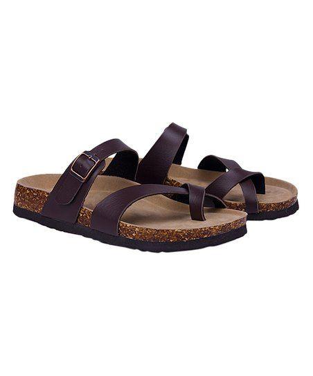 a17e9cad88844 MAIBULUN Brown Crisscross Sandal - Women | zulily | Want | Sandals ...