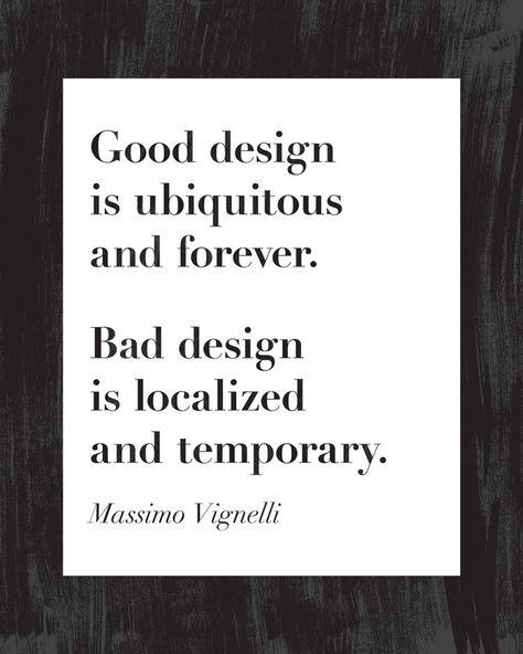 Massimo Vignelli Quote