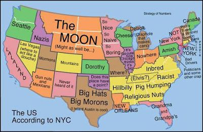 Funny Map That Doesnt Think My Part Of New York Exists - Map of us according to