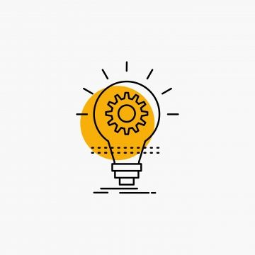 Bulb Develop Idea Innovation Light Line Icon Png And Vector Light Icon Logo Design Inspiration Creative Bulb