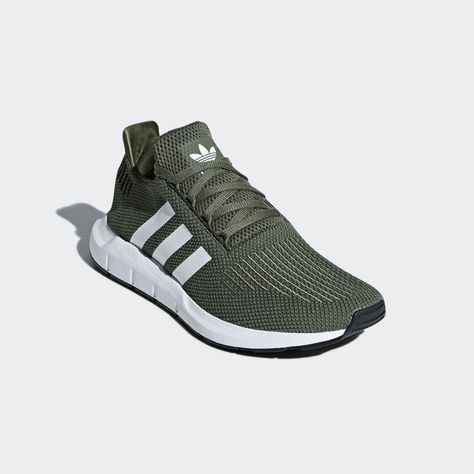 90139df59d35a adidas Originals Swift Run shoes in base green. Cool adidas green sneakers  for 2018.