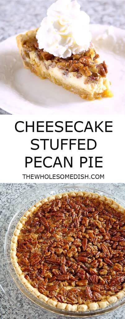 Cheesecake Stuffed Pecan Pie