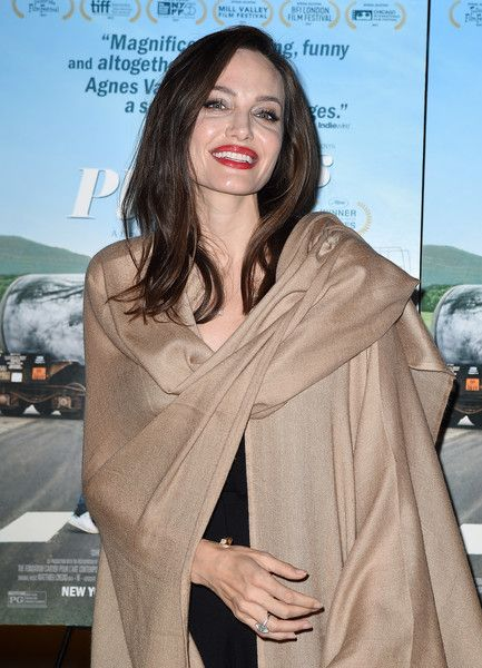 Angelina Jolie attends the premiere of Cohen Media Group's 'Faces Places.'