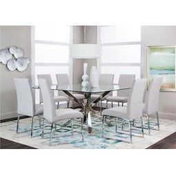 Lacks Classic White 9 Pc Dining Set Dining Room Sets Dining