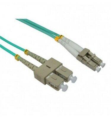 Lc To Sc Multimode Om4 Aqua 10gb Fiber Optic Patch Cable 10m 15m 20m 30m 40m Fiber Optic Cable Fiber Optic Fiber Optic Internet