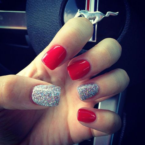 Love my red nails #hair #love #style #beautiful #Makeup #SkinCare #Nails #beauty #eyemakeup #style #eyes #model #powdernails
