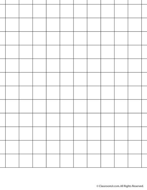Printable Graph Paper And Grid Paper  Inch Grid Paper  Classroom