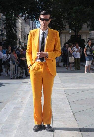 NY Street Fashion- Yellow Suit.