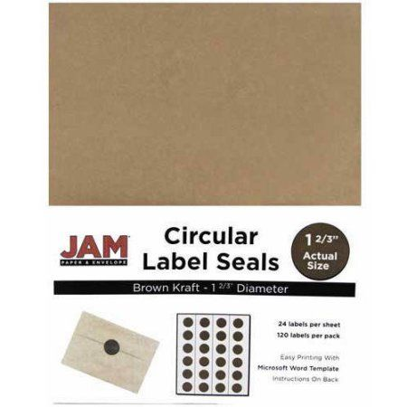Jam paper 1 66 inch circle label sticker seals brown kraft 120 pack circle labels label stickers and walmart