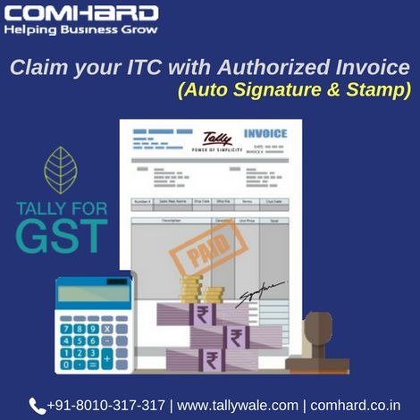 Claim your ITC with auto signature \ stamp in our invoice Create - filling out an invoice