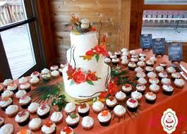 Image Result For Wedding Cake Surrounded By Cupcakes Cupcake Cake Designs Wedding Cakes With Cupcakes Fall Wedding Cakes