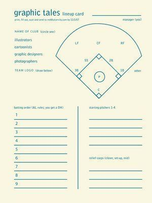 Baseball Lineup Card Template Free Download Baseball Lineup Softball Softball Team