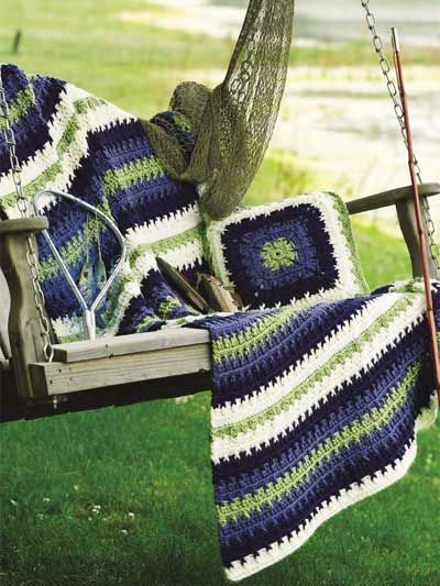 Crochet afghans and pillow sets on Pinterest Afghans ...