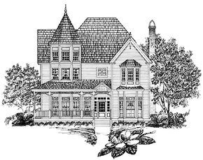 Victorian Style House Plan 3 Beds 2 5 Baths 2243 Sq Ft Plan 1014 19 Victorian House Plans House Plans Victorian Style Homes