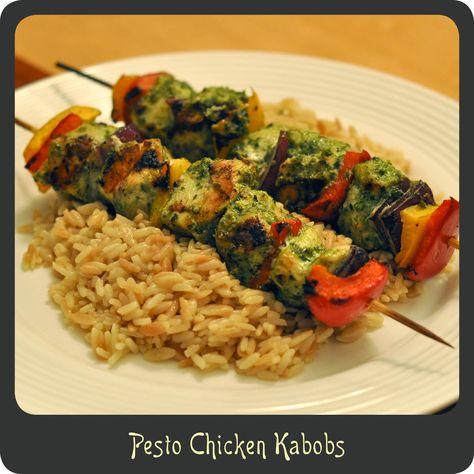 Pesto Chicken Kabobs