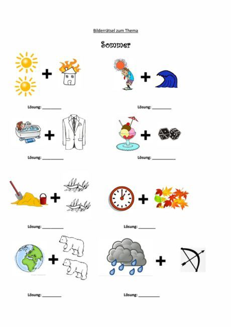 Bilderratsel Sommer Sprache Bilder Ratsel Sommer Worte Geschichten Zum Vorlesen
