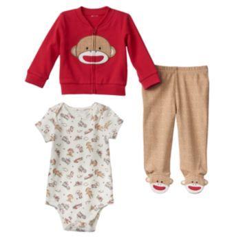 9e8dd2a47f Baby Starters Sock Monkey Bodysuit