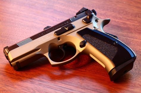 CZ 75 P-01 pistol a simple, efficient and accurate machine. 2nd behind the 1911 in my opinion.