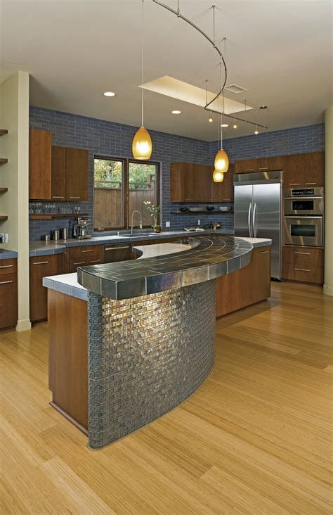 25 Modern Kitchen Countertop Ideas 2021 Fresh Designs For Your Home Replacing Kitchen Countertops Glass Tiles Kitchen Kitchen Island Design