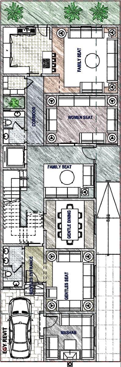 تصميم فيلا مودرن دور ارضي ١٠ في ٣٠ تابعونا على ايجي ريفيت تويتر و فيس بوك م محمد سليم Drawing House Plans Floor Plans House Plans