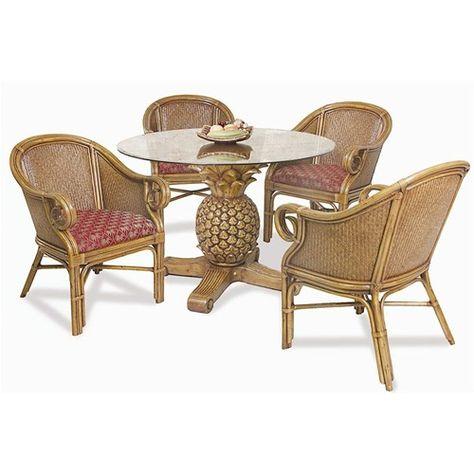 Pelican Reef Ocean Reef Pineapple Table Club Chair Set Baer S Furniture Di Wicker Table And Chairs Dining Room Furniture Sets Furniture Dining Room Table