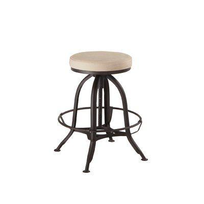 Gracie Oaks Tackitt Adjustable Height Swivel Bar Stool Backless Bar Stools Stool Bar Stools