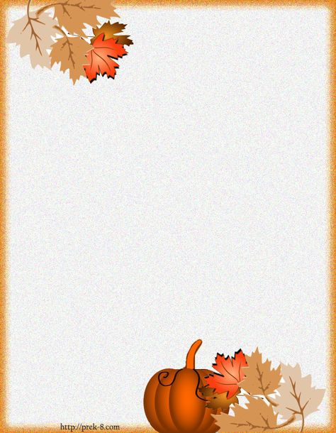 Holiday Paper Borders Printables | ... fall harvest stationery, free printable halloween writing paper