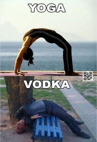 Yoga Vs Vodka Really Funny Memes Funny Memes Images Funny