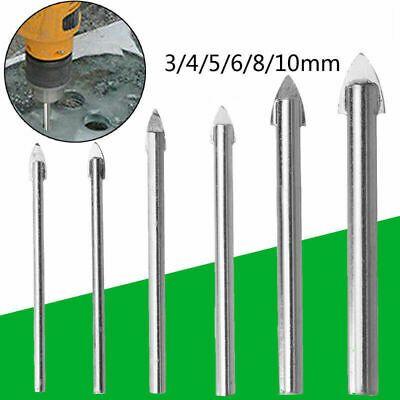 Set Drills 3 4 5 6 8 10mm Spear Head Hard Alloy Porcelain Tile Mirror Drill Bit In 2020 Mirror Tiles Porcelain Tile Glass Mirror