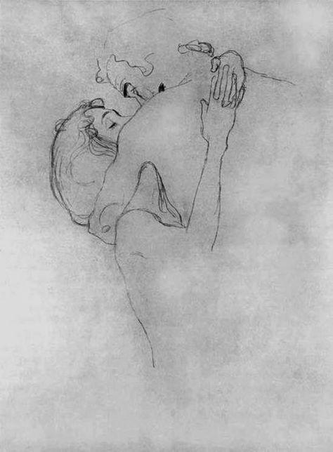 Gustav Klimt. Les amants