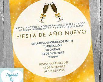 Invitación Fiesta De Fin De Año Nochevieja Año Nuevo
