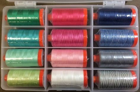 LARGE Spools Thread Cotton Mary Fons SMALL WONDERS Collection Aurifil 12 50 wt