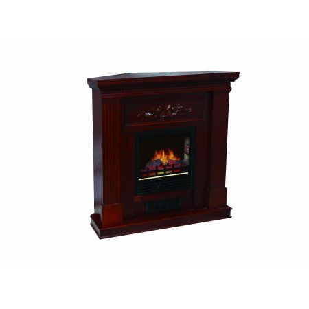 Decor Flame Electric Space Heater Fireplace With 38 Inch Mantle