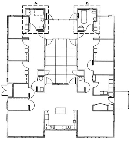 traditional chinese courtyard residence floor plan Google Search
