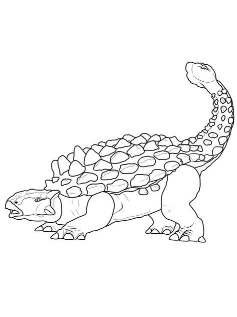 ausmalbilder dinosaurier ankylosaurus  bildergalerie
