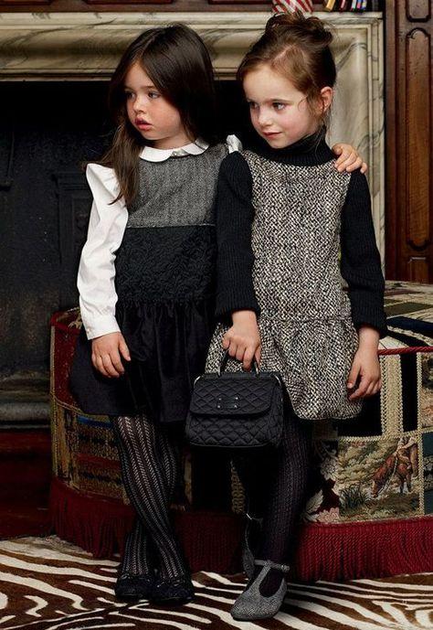 Fashionable little girl's clothing.