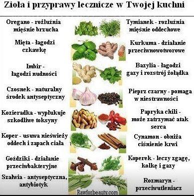 Ziola I Przyprawy Lecznicze W Twojej Kuchni Workout Food Food Therapy Health Food