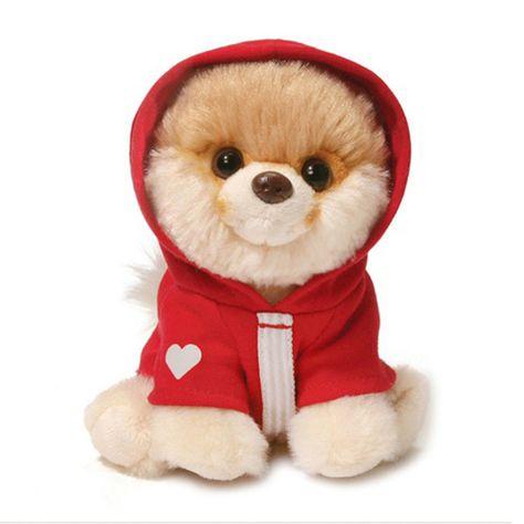 Gund The World Cutest Dog Itty Bitty Boo 4056232 Red Hoodie