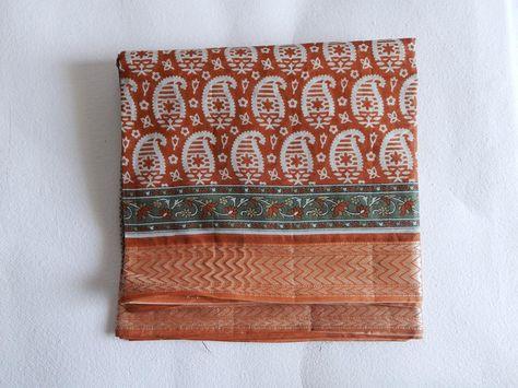Cette liste est pour un sari de coton indienne vintage.  Utilisez-le pour…