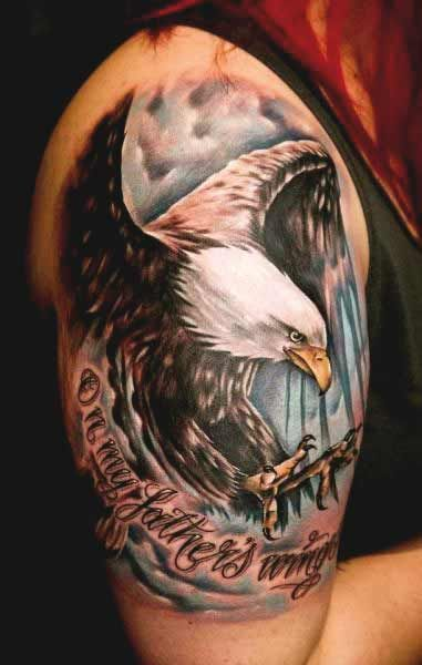 50 Amazing Perfectly Place Eagle Tattoos Designs With Meaning Eagle Tattoos Skull Sleeve Tattoos Bald Eagle Tattoos