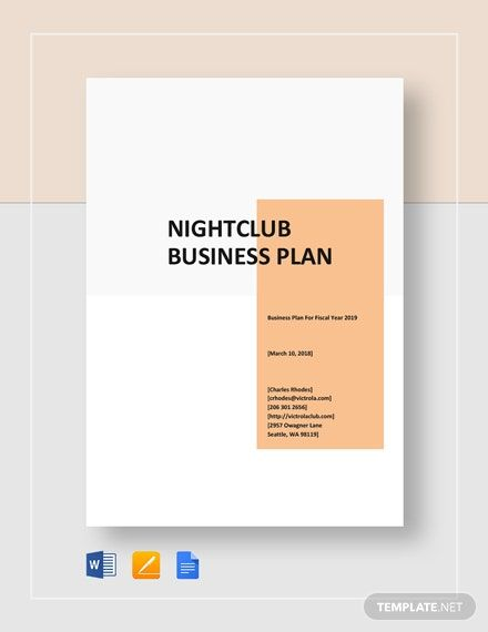 Instantly Download Night Club Business Plan Template Sample Example In Microsoft Word Business Plan Template Business Planning Business Plan Template Free