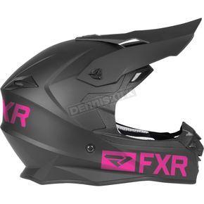 FXR Racing Black/Elec Pink Octane Recoil Helmet - 190620