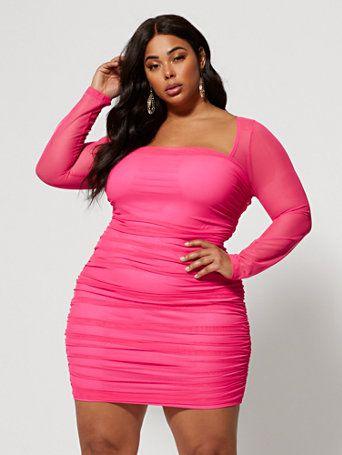 Plus Size Nanette Ruched Side Bodycon Dress | Fashion To ...