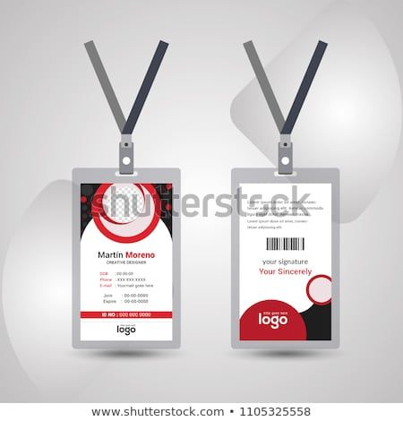Simple And Clean Red Black Id Card Design Template Identity Card Design Card Design Design Template