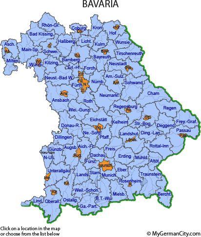 Map - Bavaria  Germany Bavaria Germany Baden germany, Bavaria