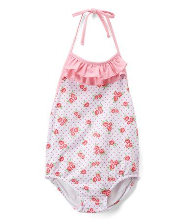 Toddler Girl 12-18 Months Floral One-Piece Bathing Suit GAP Baby